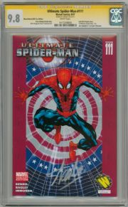 Ultimate Spider-man  #111 Wizard World CGC 9.8 Signature Series Signed Stan Lee  Marvel comic